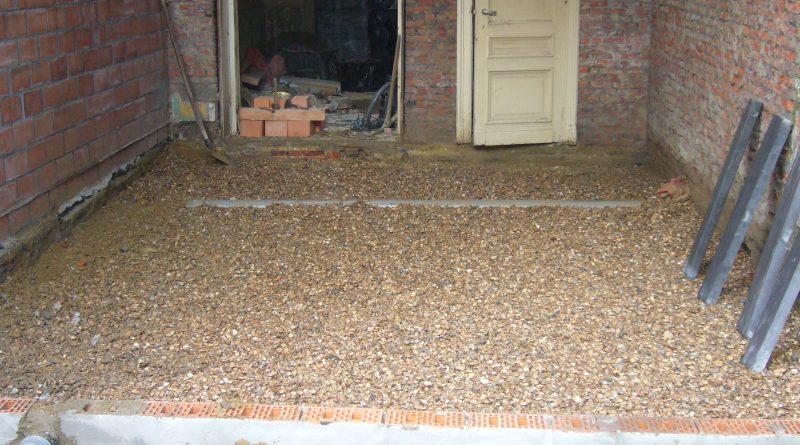 schelpen als vloeropbouw op volle grond